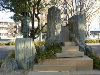 種田山頭火銅像・歌碑写真