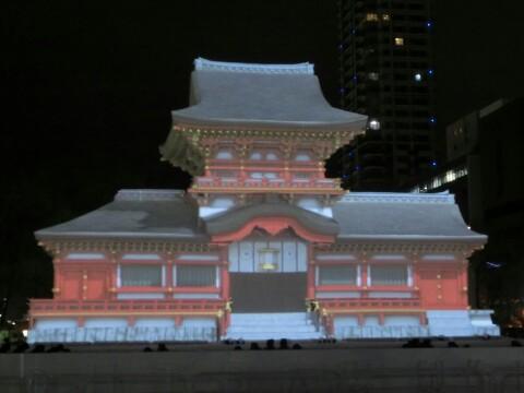 さっぽろ雪まつり大雪像・春日大社中門写真