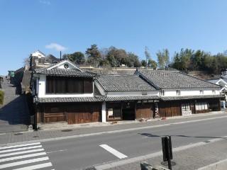 綾部味噌醸造元建物・酢屋の坂写真