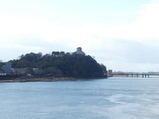 木曽川、犬山城写真