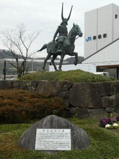 JR彦根駅前・井伊直政公像写真