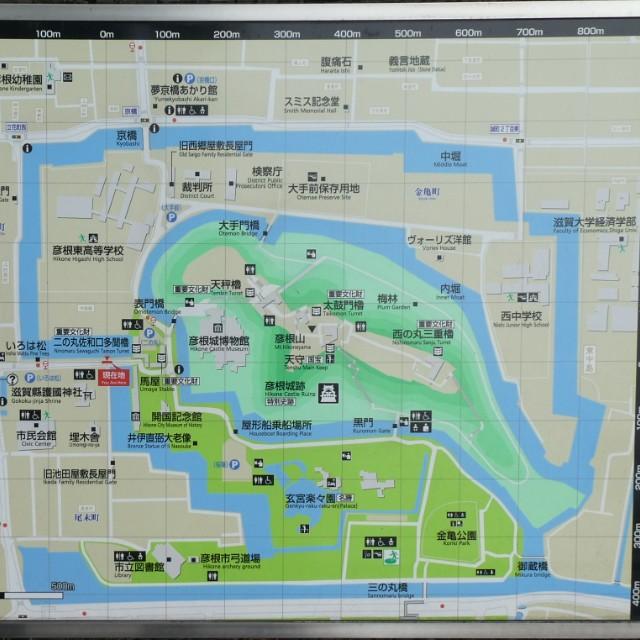 彦根城地図写真