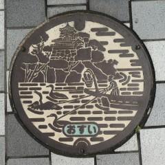 犬山市デザインマンホール写真