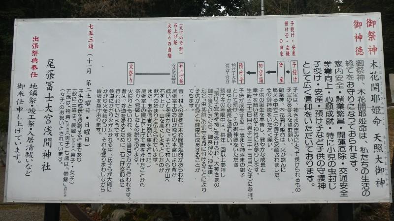 大宮浅間神社由緒等看板写真