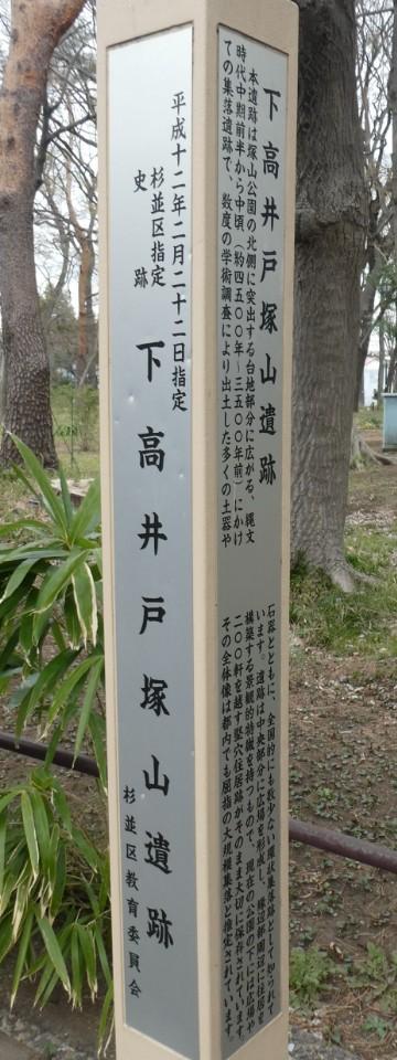 塚山公園・下高井戸塚山遺跡解説写真