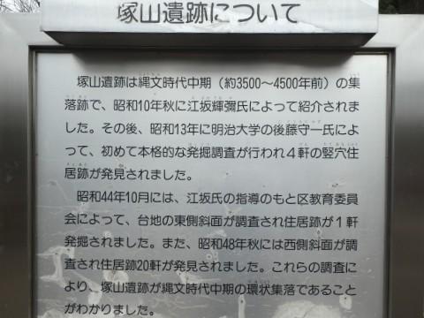 塚山公園・下高井戸塚山遺跡解説板写真