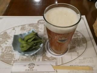 長浜ビール・枝豆写真