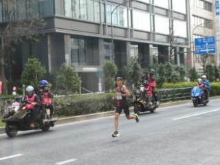 東京マラソンレース風景写真