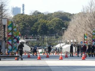 東京マラソン2020フィニッシュ地点写真