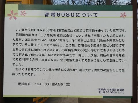 飛鳥山公園・都電解説写真