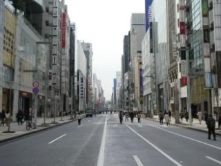 銀座通り歩行者天国写真