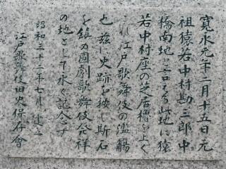 江戸歌舞伎発祥之地解説写真