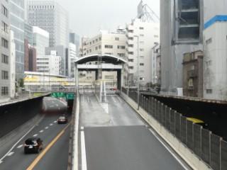 首都高速都心環状線京橋入口写真