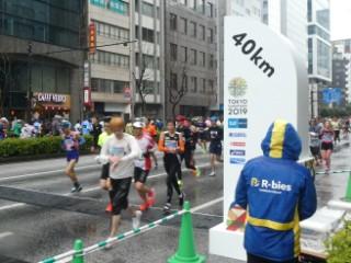 東京マラソン40km地点写真