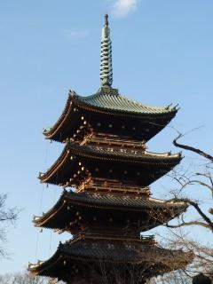 旧寛永寺五重塔写真