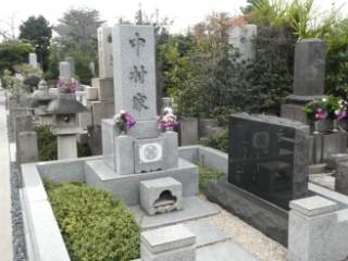 築地本願寺和田堀廟所・中村汀女墓写真