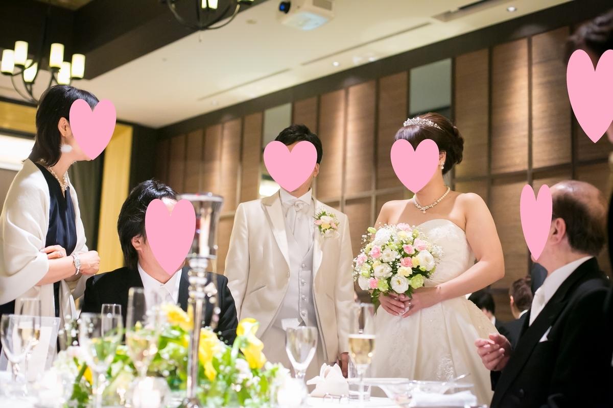 結婚式披露宴 演出 テーブルラウンドの様子 ウェディングドレス