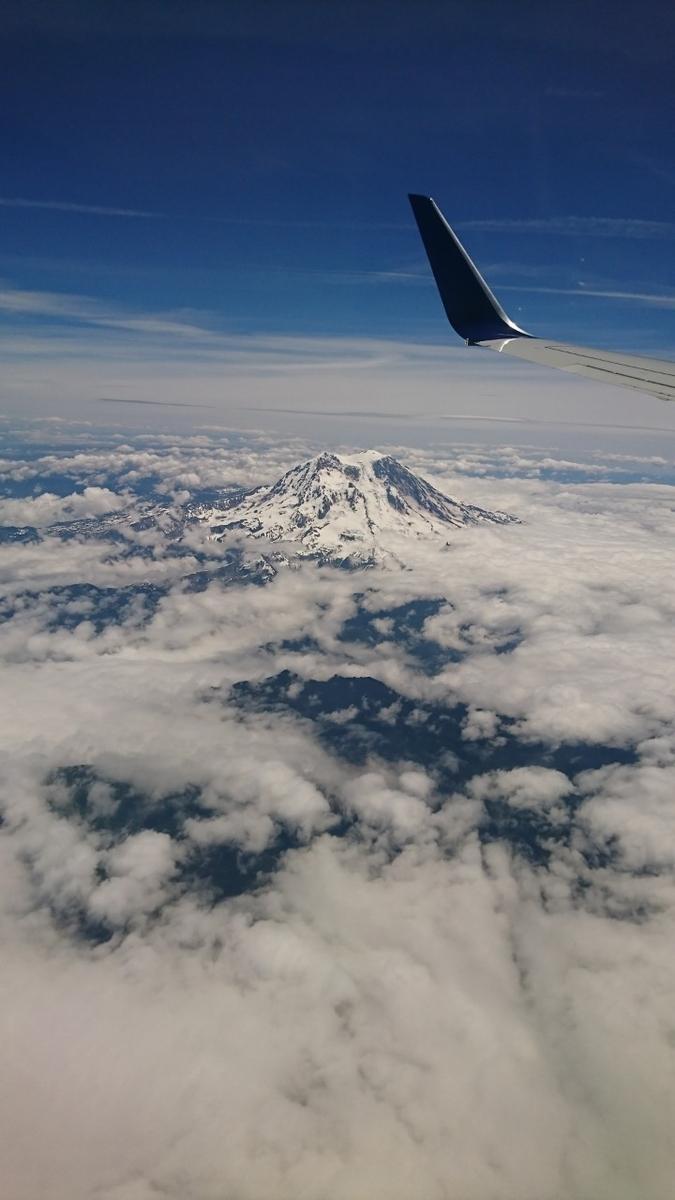 アメリカ旅行 シアトル ラスベガス 飛行機 上空からの写真