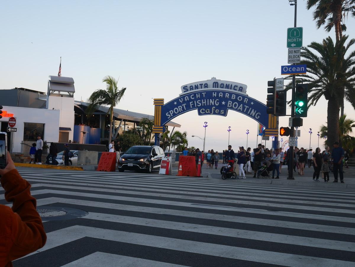 嵐 ロス 桟橋 アメリカ サンタモニカ サンタモニカピア SantaMonica