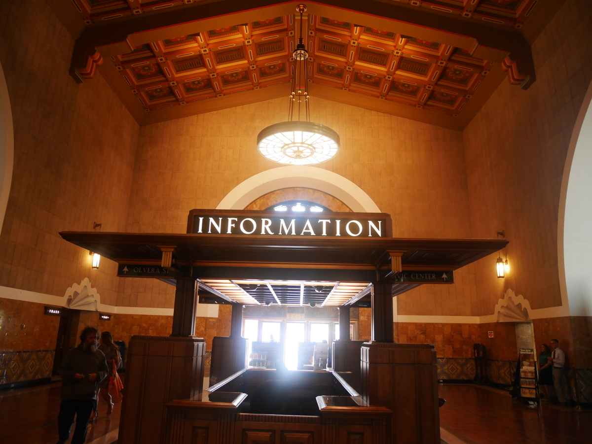 Los Angels Union Station アメリカ ロサンゼルス ユニオンステーション 駅構内