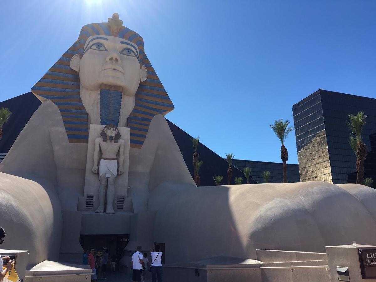 アメリカ ラスベガス ホテル ルクソール 無料トラム