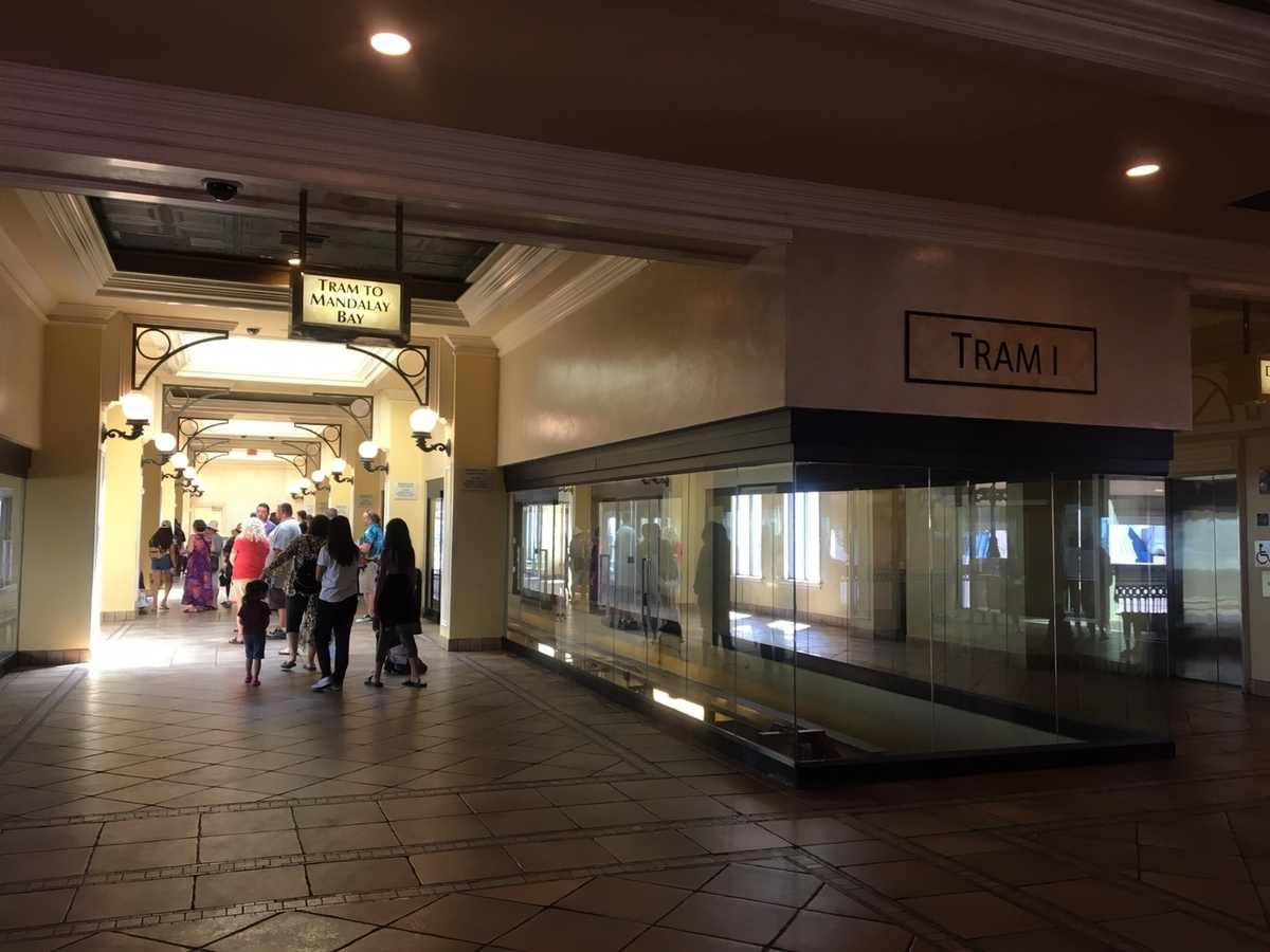 アメリカ ラスベガス ストリップ通り 無料トラム 乗り場