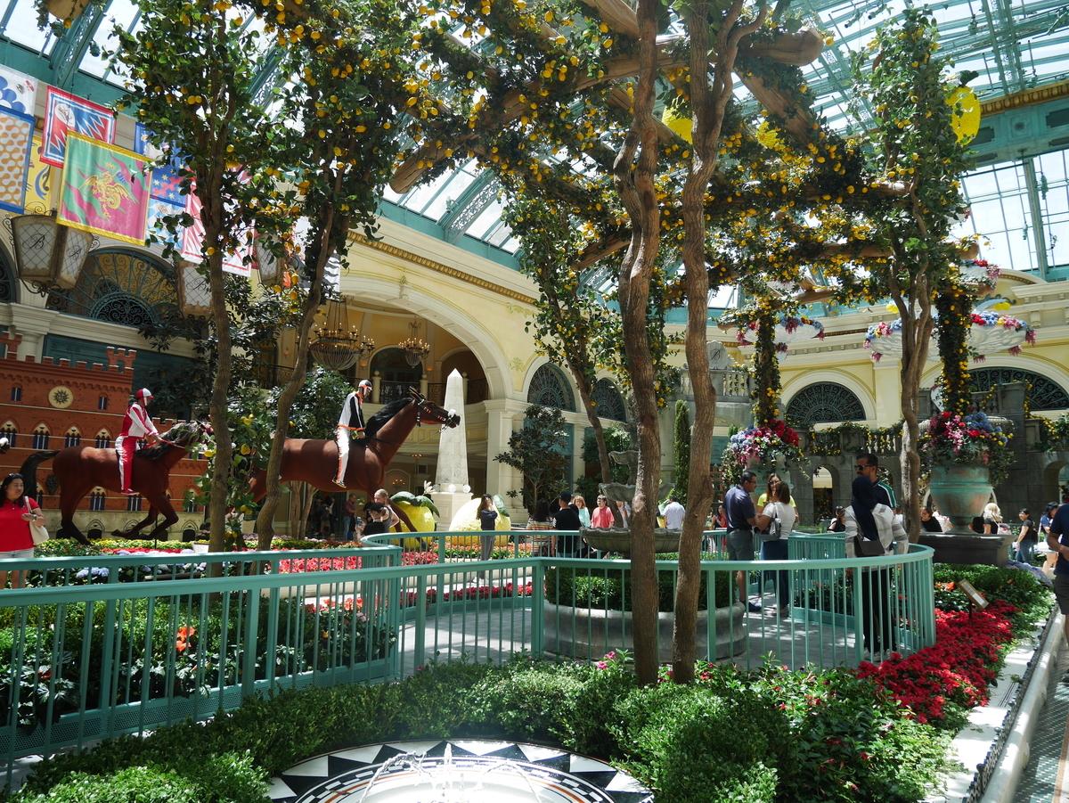 アメリカ ラスベガス ストリップ通り ホテル ベラッジオ 花壇