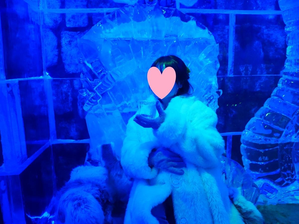アメリカ ラスベガス ホテル マンダレンベイ minus5º Ice Experience マイナス5・アイスエクスペリエンス 店内 王座