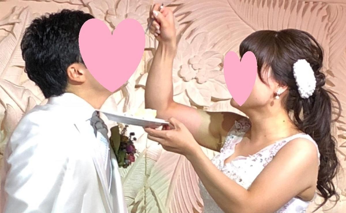結婚式 2次会 ヘアアレンジ パールボンネ ポニーテール ウェディングドレス