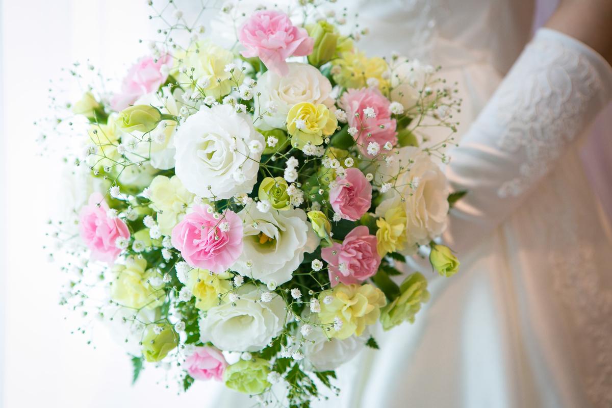結婚式 挙式 披露宴 ブーケ ラウンド型