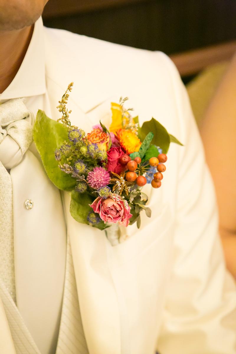 結婚式 披露宴 ウェディング 手作りブートニア ドライフラワー 持ち込み