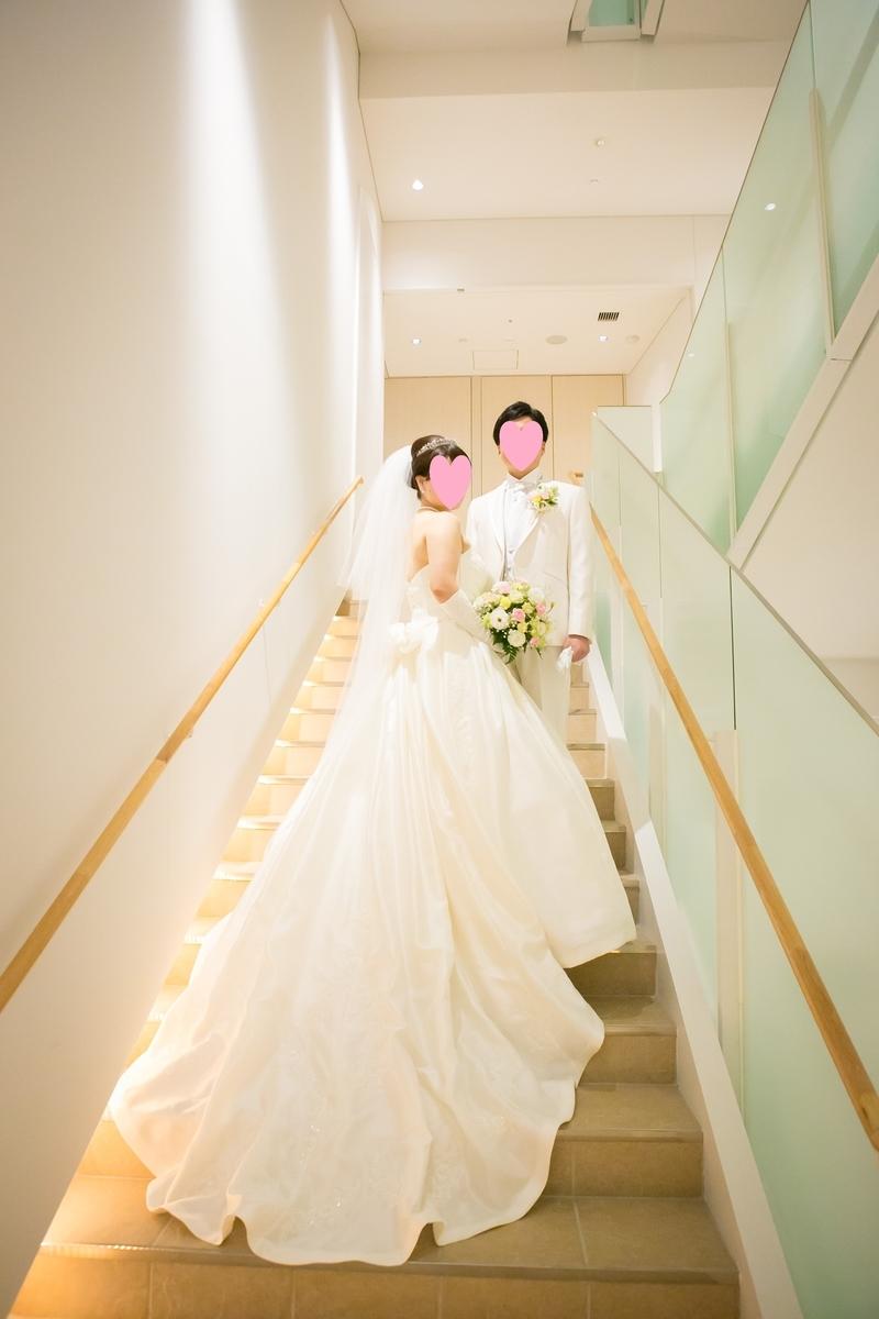結婚式 写真 階段 新郎新婦 ルーキス 東天紅
