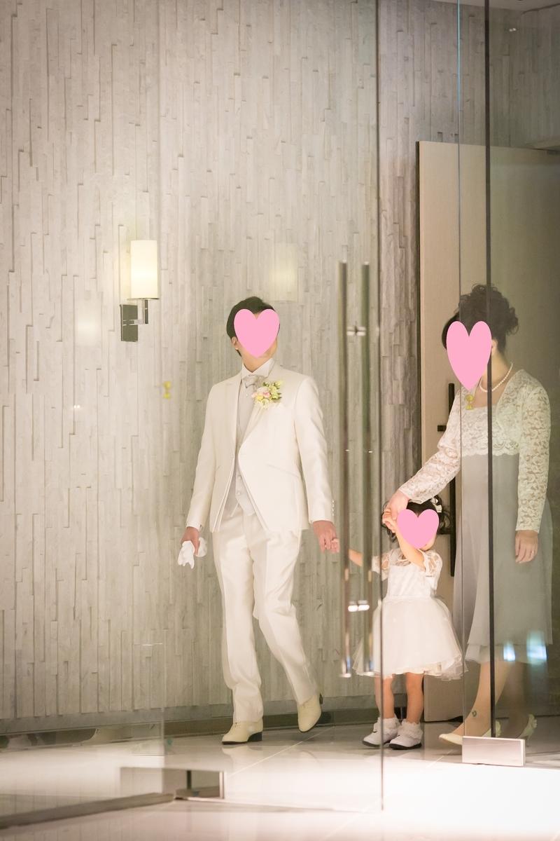結婚式 挙式 新郎入場 エスコート 幼児 ルーキス 東天紅