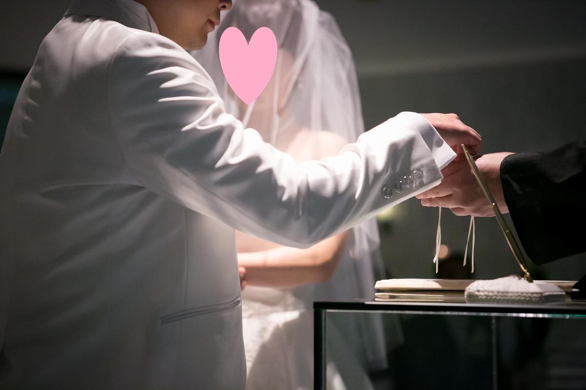 結婚式 挙式 チャペル 指輪交換 ルーキス 東天紅