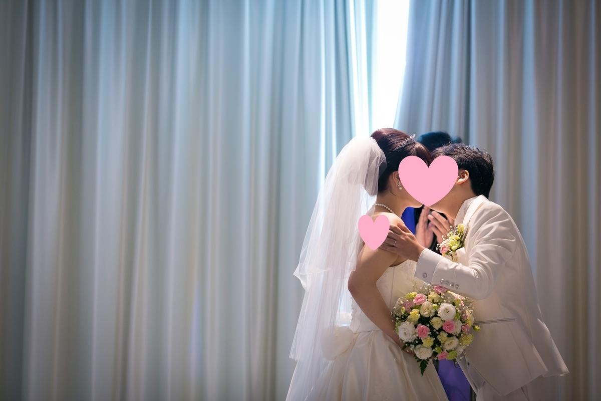 結婚式 挙式 チャペル ヴェールアップ キス ルーキス 東天紅