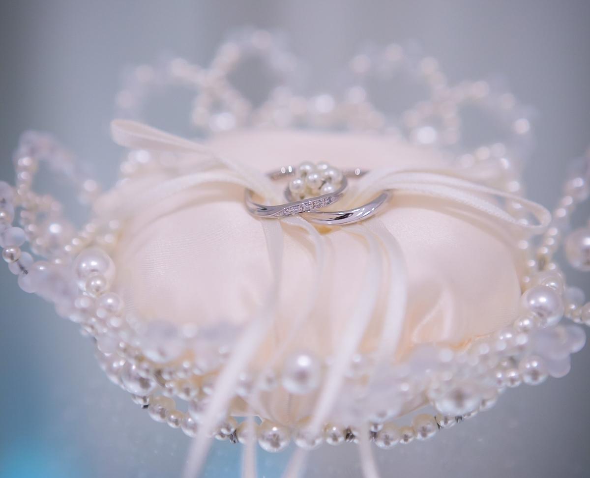 結婚式 挙式 結婚指輪 リングピロー