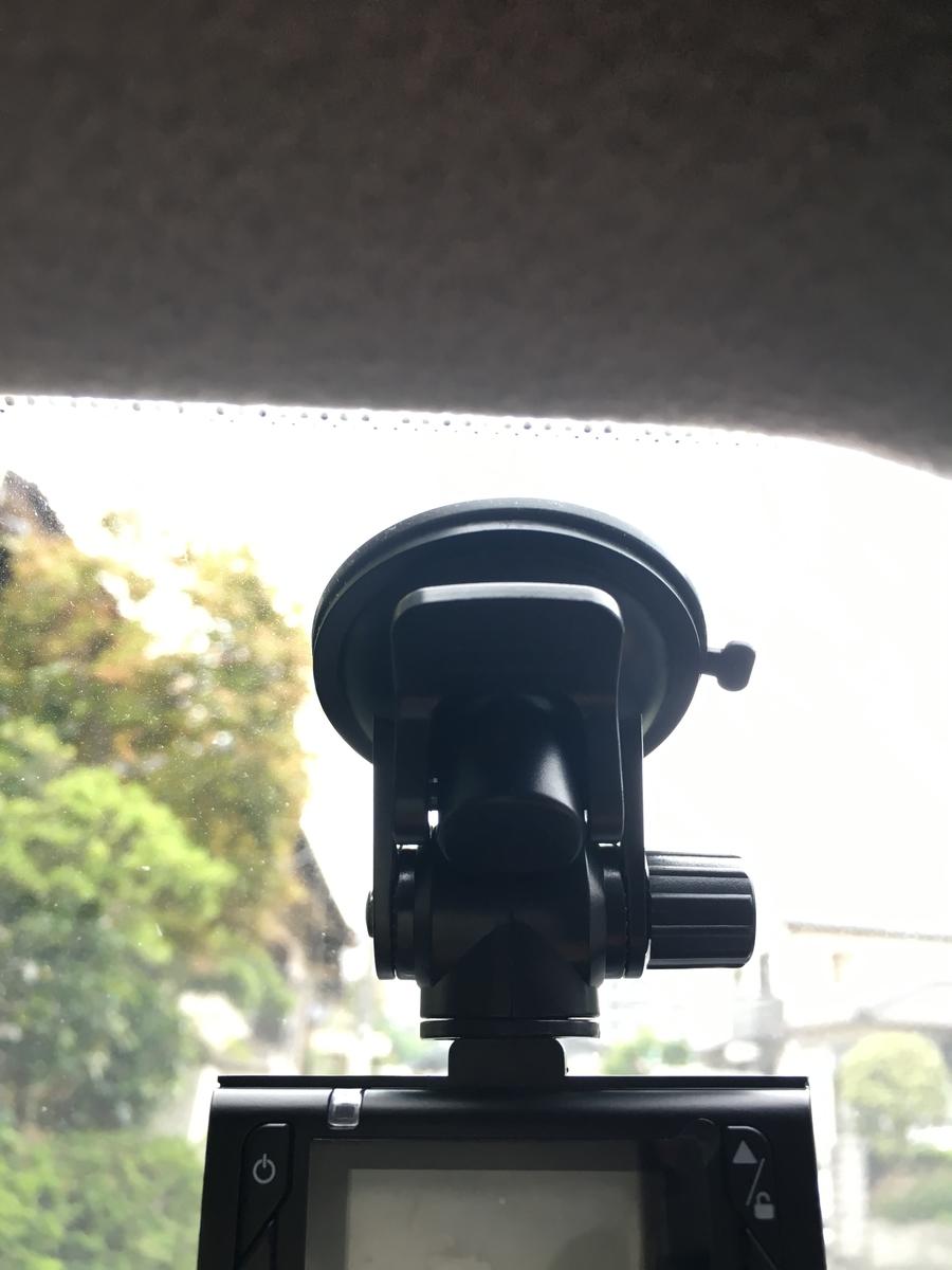 ドライブレコーダー 本体 設置 写真