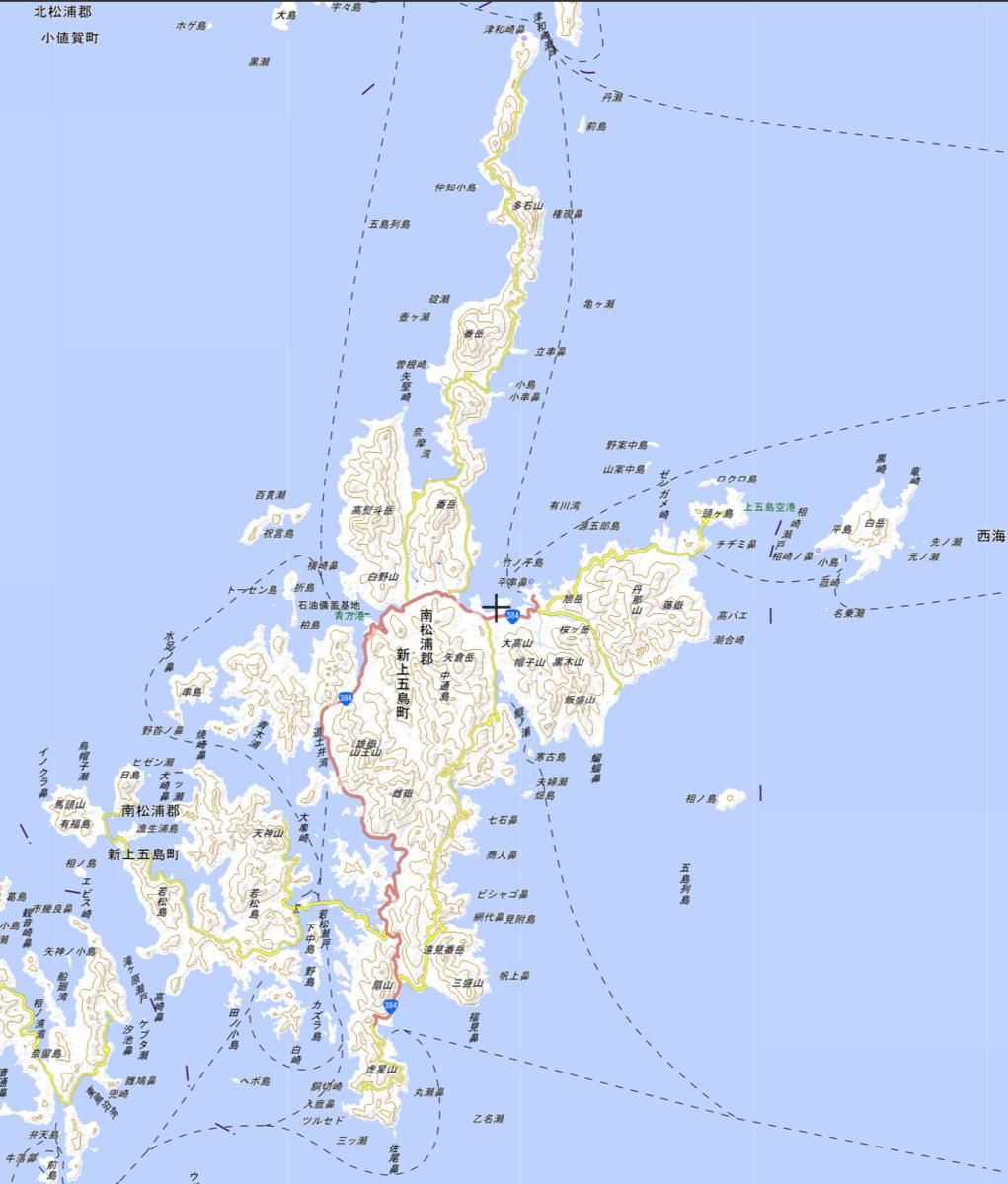 国土地理院ウオッちずによる新上五島町全体