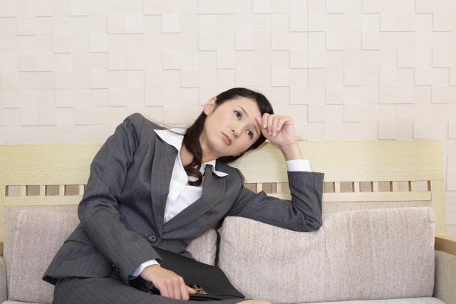 失業した女性