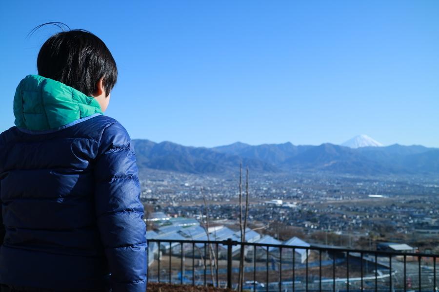 子と富士山