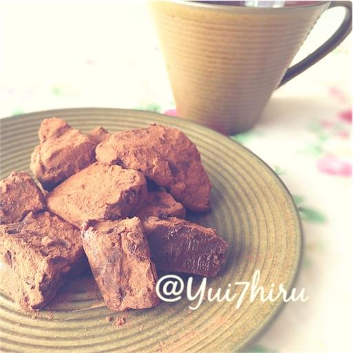 手作り生チョコと珈琲のテーブルコーディネート