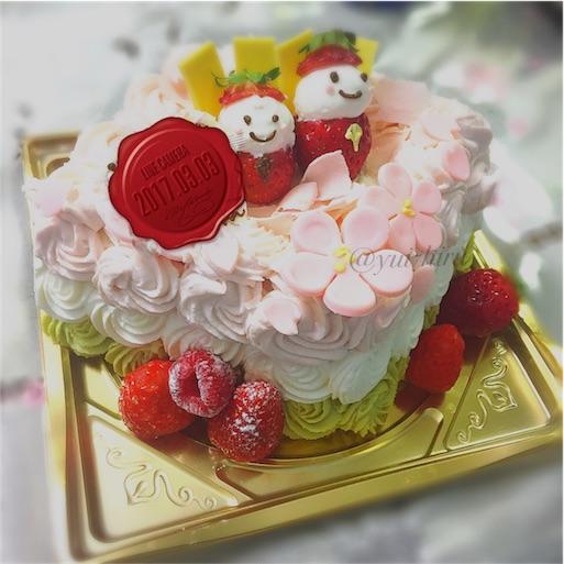 ロリオリ365のひなまつりケーキ
