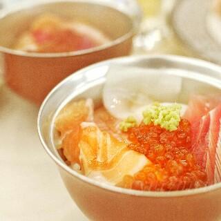 勝手丼で作った海鮮丼