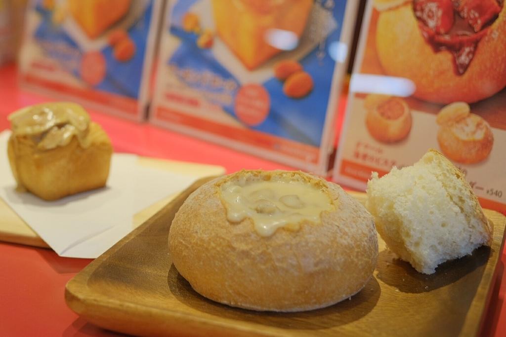 石窯スープパンとアーモンドロールのフォトスポット