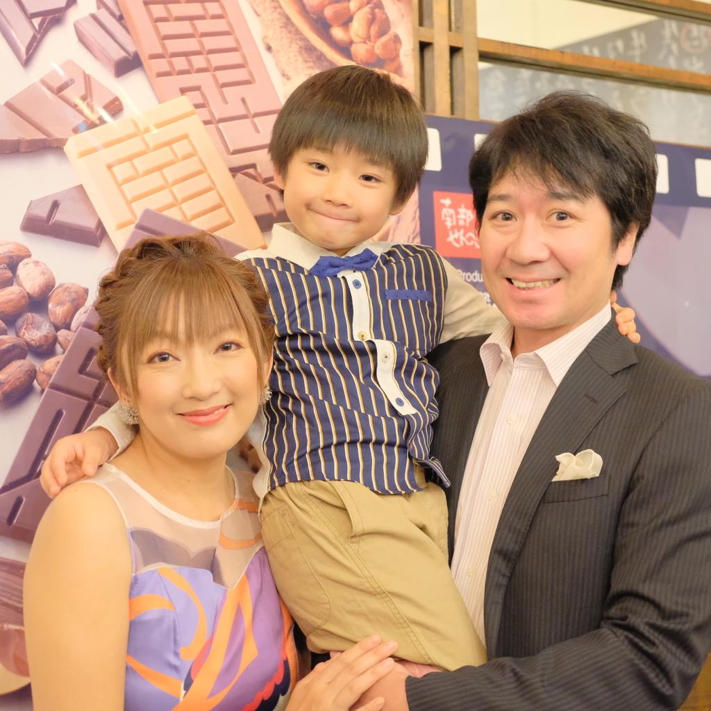 山田まりやとご主人とお子さん