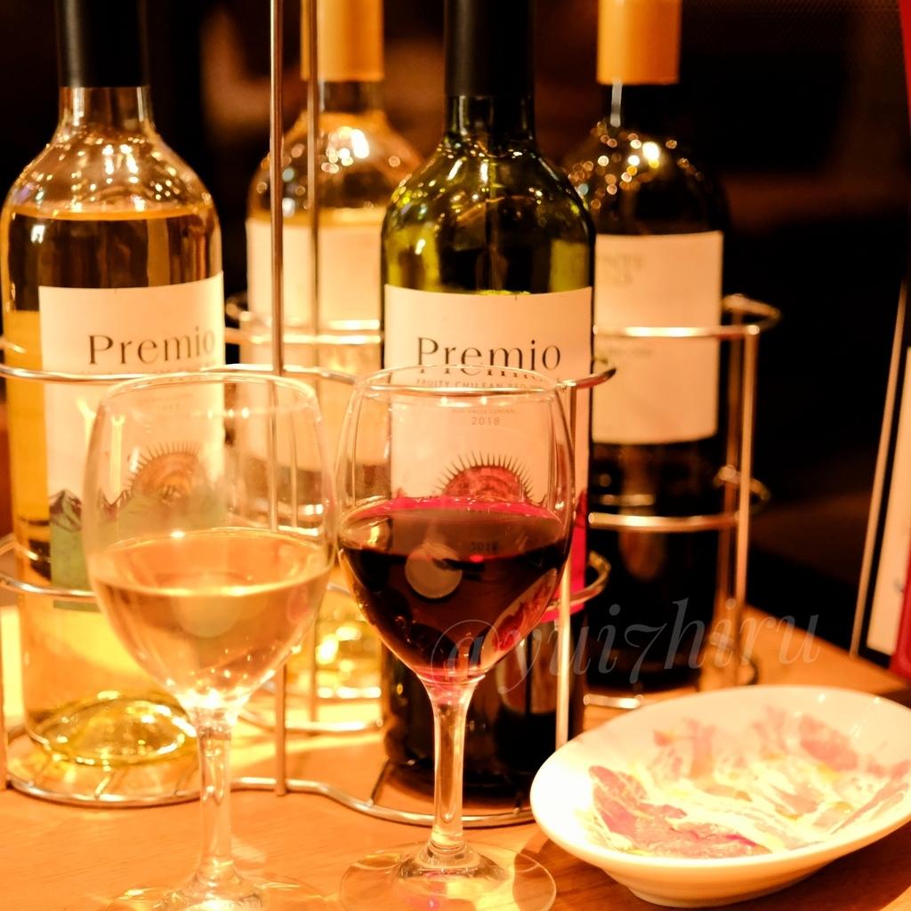 赤ワイン2本白ワイン2本と生ハム