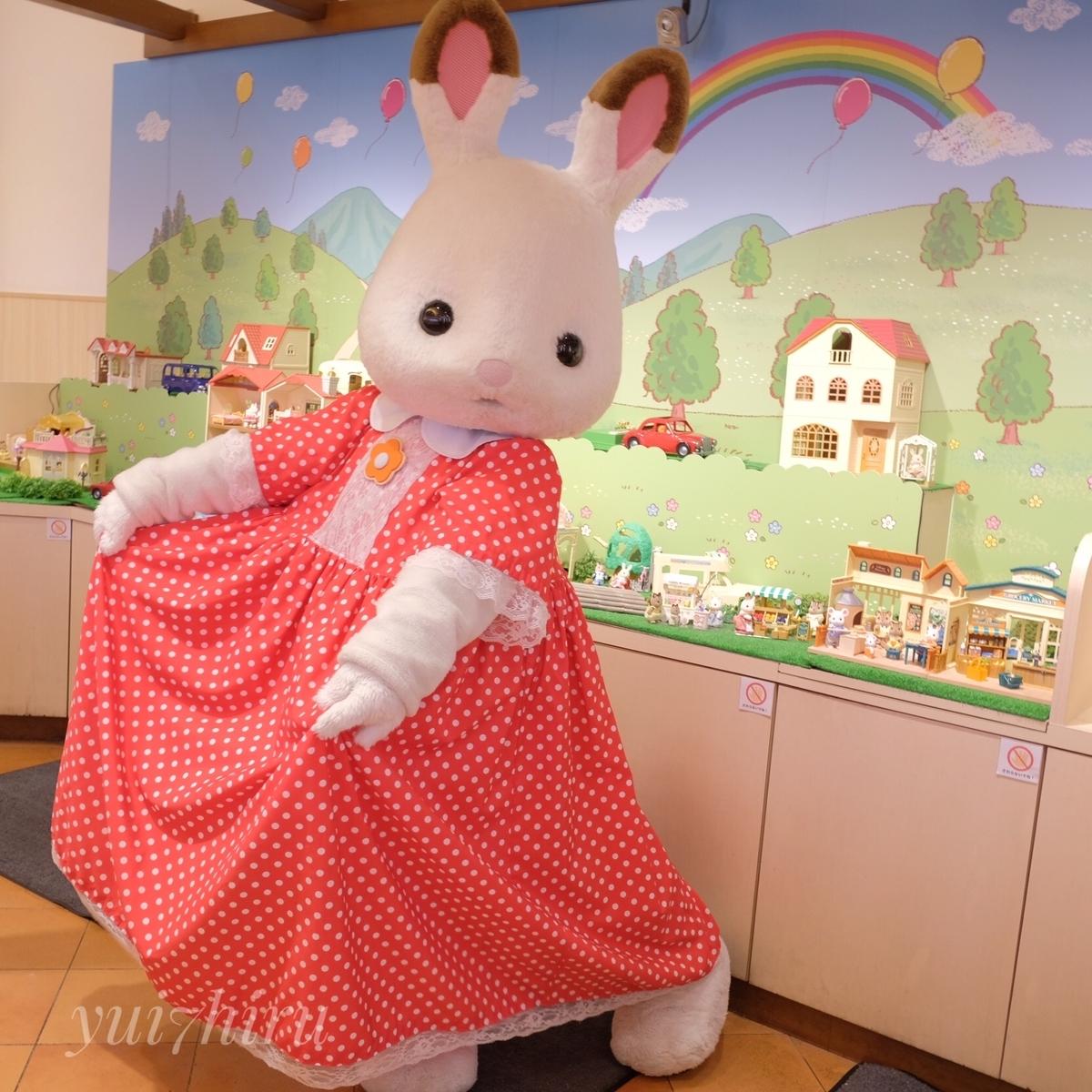 店内に登場したショコラウサギちゃん