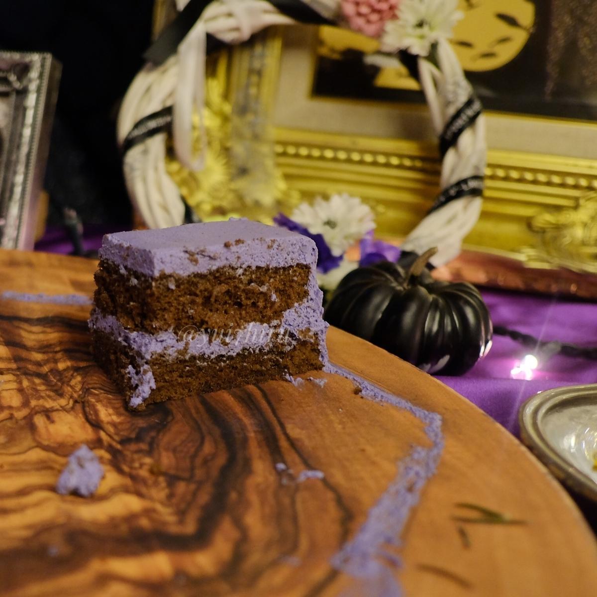 棺桶ケーキの断面