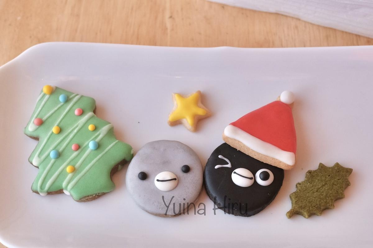 アイシングクッキーを並べた