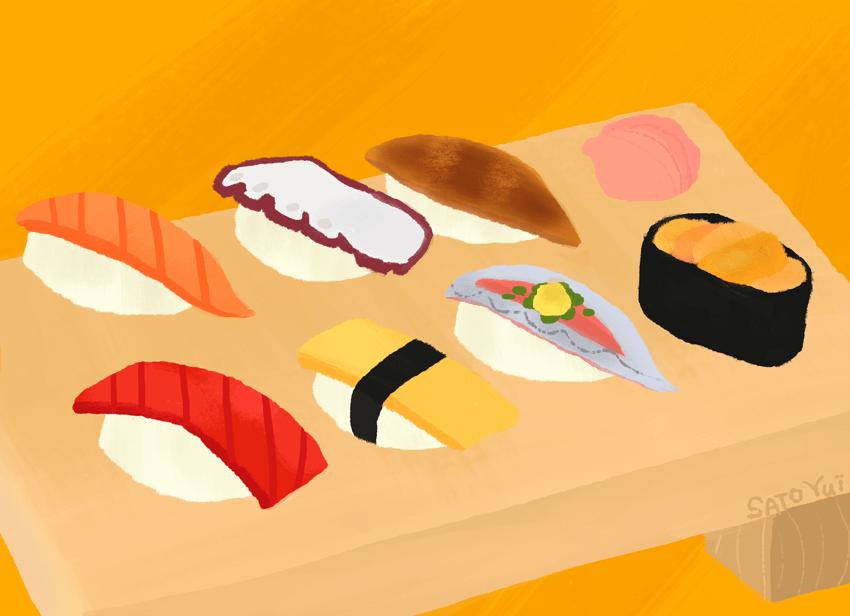お寿司 にぎり イラスト 食べ物